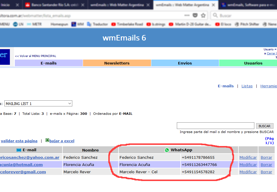 wmEmails, Software para e-mail marketing, programa para envío masivo ...